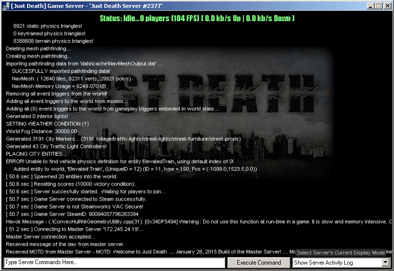 Just Death Game Server GUI