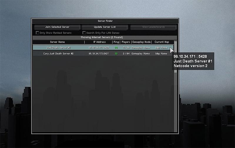 Just Death Server Finder