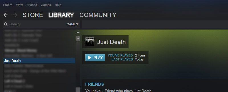 Just Death in Steam