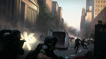 Bank Heist - Rob the bank with friends, and escape the procedural cities.